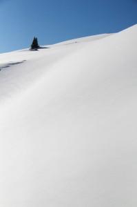 Schneehang am Simetsberg